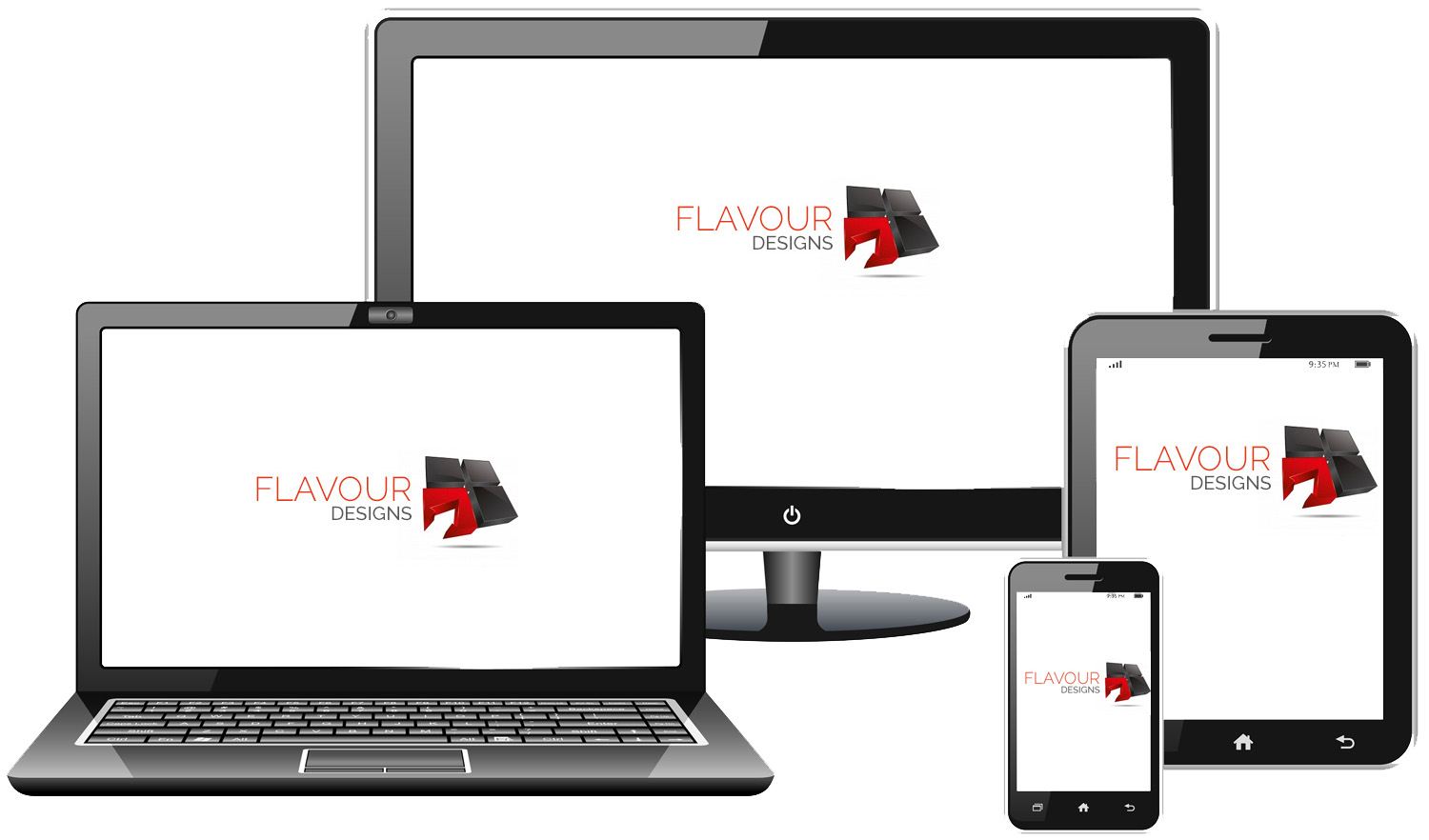 responsive design | ecommerce website development | flavour designs