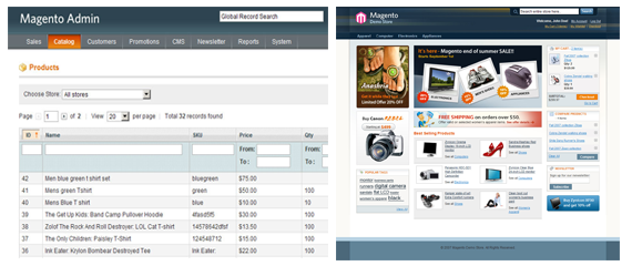 Magento website specials image1